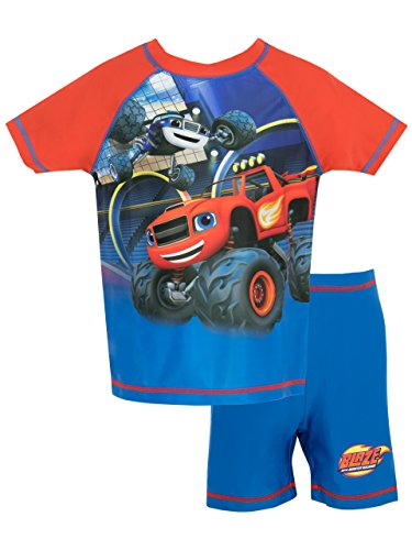 Blaze & the Monster Machines Boys Two Piece Swim Set Ages 18 Months to 7 Years