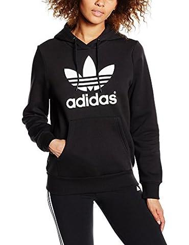 adidas Trf Sweat-Shirt à Capuche Femme, Noir, FR : 44 (Taille Fabricant : 44)