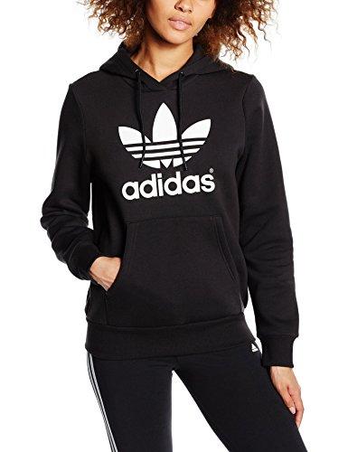adidas Damen Kapuzenpullover Trefoil Logo Hoodie, Black, 38, AJ8407