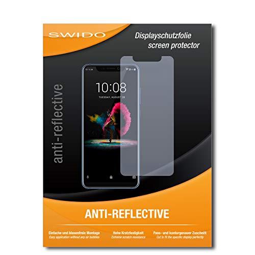 SWIDO Schutzfolie für ZTE Axon 9 Pro [2 Stück] Anti-Reflex MATT Entspiegelnd, Hoher Härtegrad, Schutz vor Kratzer/Bildschirmschutz, Bildschirmschutzfolie, Panzerglas-Folie