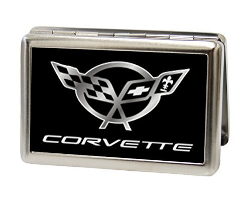 chevrolet-corvette-logo-black-silver-metal-multi-use-wallet-business-card-holder-by-b-d