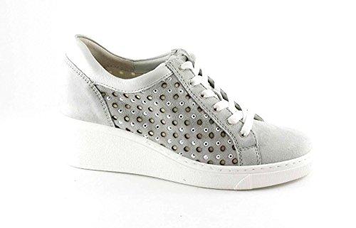 GRUNLAND CURI SC3284 sasso grigio scarpe donna comfort laccio plantare estraibile Grigio