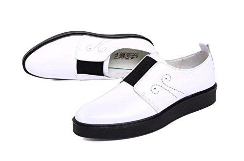 SHIXR Männer Oxford Business Casual Schuhe Herren erste Schicht von Leder Schuhe Schuhe britischen Mode Schuhe einfache Schuhe White