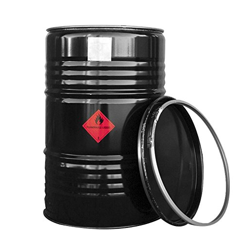 BarrelQ Big Feuertonne Feuerkorb Ölfass Grill BBQ inkl. Abdeckung ø57 Höhe 87cm