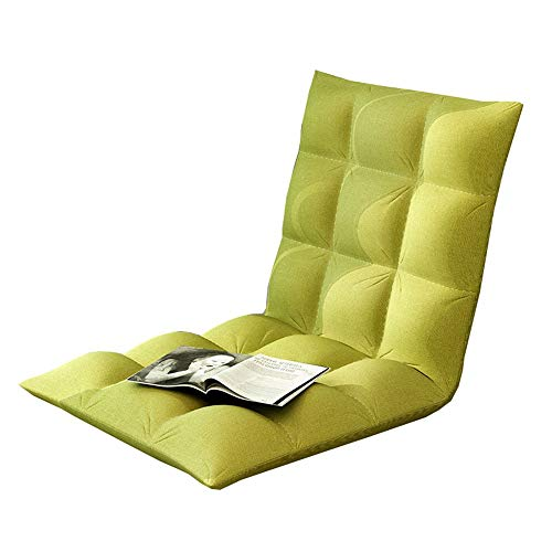 Yamyannie-Home Sofa-Bett-Stuhl-Falte verlängern Lounge-Falte verstellbare Bodenliege Sleeper Futon-Matratzen-Sitz Divans (Farbe : Grün, Größe : 50 * 100 * 10cm) (Mini-falte-stuhl)