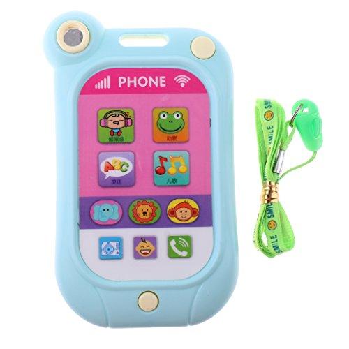MagiDeal Kinder Baby Mobiltelefon Handy Spielzeug mit Musik Pädagogische Spielzeug Geburtstagsgeschenk - Rosa + Grün Baby Touch-screen-handy