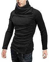 DJT Pull-over Homme Manche longue Veste Sweat-shirt Blouse Haut-Col