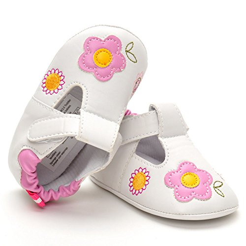 ESTAMICO Toddler Girls PU Leather Sneakers Prewalker Shoes