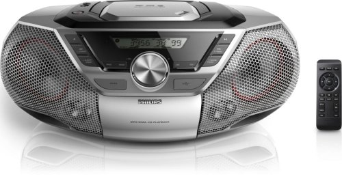 Philips AZ783/12 CD-Spieler (12 Watt, CD-MP3, USB, FM Digital) Silber (Philips-cd-mp3-player)