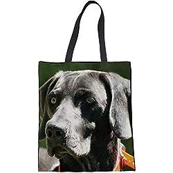 Bolso de compras con grandes impresiones de perros. Varias razas de perro a elegir.