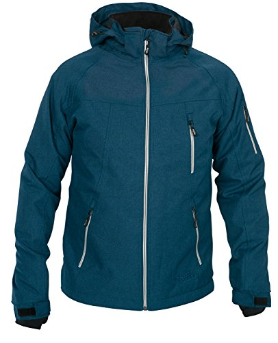 Fifty Five Herren Winterjacke Skijacke Forester Blau M Wasserdicht