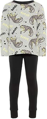 fanzug lang Pyjama Tiger Glow in The Dark, Größe:98, Farbe:Grey Melange ()