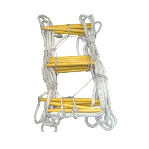 Dbtxwd Fluchtleiter Strickleiter Klappbare rutschfeste Rettungsleiter Für Rettungskräfte, Aufsteigende Rettungsleiter, 10M