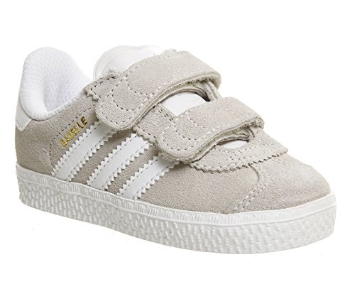 Adidas Originals Gazelle 2 Infant Solar Blue Suede Trainers Off White White
