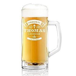 polar-effekt Bierkrug Personalisiert mit Gravur eines Namens und Jahreszahl - Bierseidel Geschenk-Idee zum Geburtstag - Motiv Original-Exklusive 0,5l