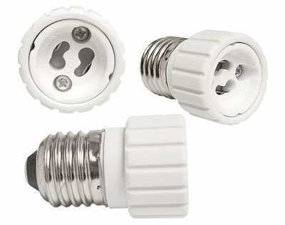 Lampen Adapter Sockel GU10 auf Sockel E27 (Jersey Auto White)