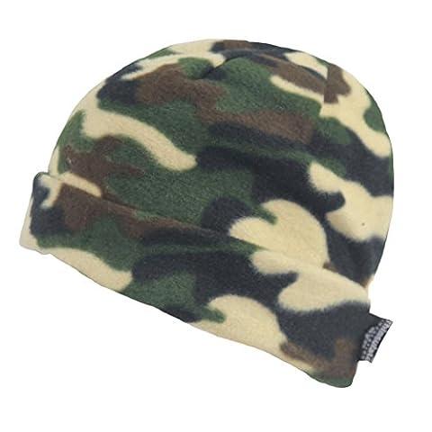 Hiver chaude pour homme Camouflage Up Turn Bonnet de Ski
