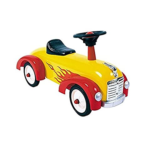 Great Gizmos Speedster Yellow and Red Foot-to-Floor Quad Ride On Toy Car for Kids
