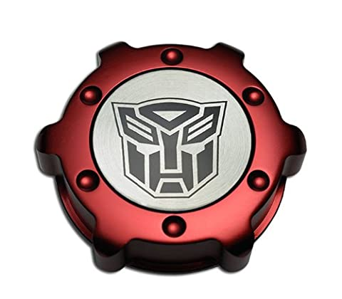 AUTOBOT Transformers RED OIL CAP Chevrolet in Billet Aluminum for LS1 5.7L Chevy Camaro Z28 SS Super Sport 98 99 00 01 02 1998 1999 2000 2001 2002