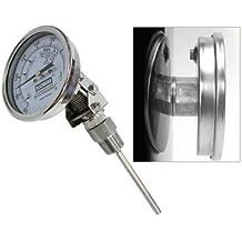 """brewmometer ajustable 1/2""""con contratuerca en ° C"""