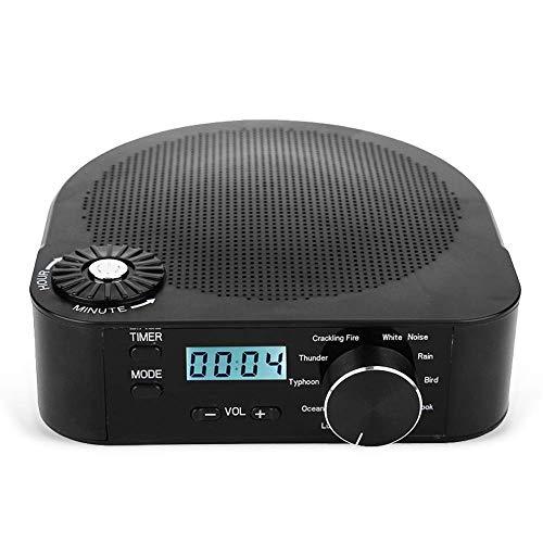 White Noise Machine Baby Sleep Schlafhilfe, NBWS 10 Beruhigender Geräuschen/4 Timer/Zeitanzeige Sound-Maschine Zum Schlafen für Insomniac, Office Nap oder Spa-Entspannung, Schwarz