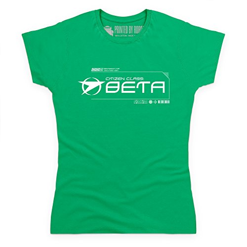 Official Blake's 7 T-Shirt - Grade Beta, Damen Grün