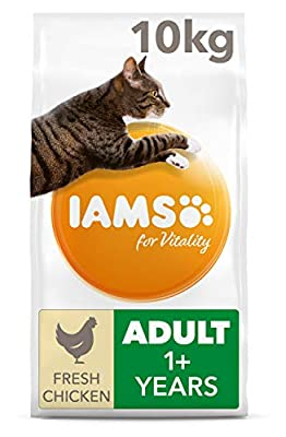 Iams for Vitality Cat Food with Fresh Chicken for Adult Cats from FEANDREA