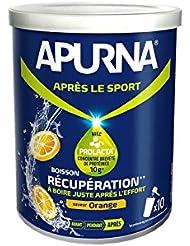 APURNA Boisson de récupération en poudre orange - Boîte de 400g