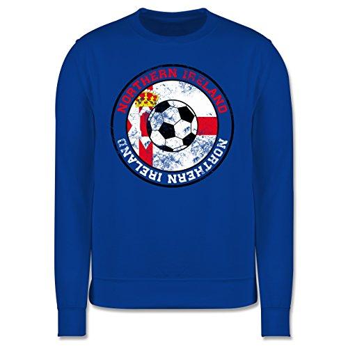 EM 2016 - Frankreich - Northern Ireland Kreis & Fußball Vintage - Herren Premium Pullover Royalblau