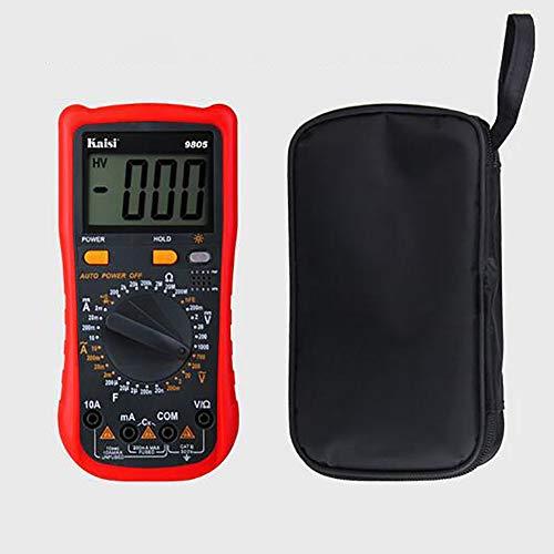 ANMJJ Tragbares Multimeter Digital Tester Auto-Ranging Voltmeter Hohe Präzision Multimeter Hintergrundbeleuchtetes LCD AC/DC-Elektrikertest,B