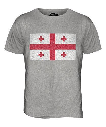 CandyMix Georgien Kritzelte Flagge Herren T Shirt Grau Meliert