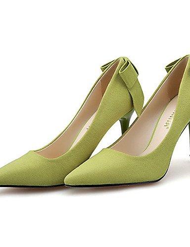WSS 2016 Chaussures Femme-Décontracté-Noir / Jaune / Vert / Rose / Gris-Talon Aiguille-Talons-Talons-Laine synthétique gray-us5 / eu35 / uk3 / cn34