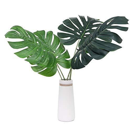e Tropical Fensterblätter Blätter Faux Palm Tree Leaf pflanzenblättern für Home Kitchen Party Dekorationen ()