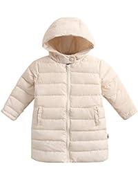 Tenthree Niño Niña Abajo Chaqueta Parka Invierno Outwear - Puffer Acolchado Bebé Niños con Capucha Largo Mantener el Calor Cremallera…