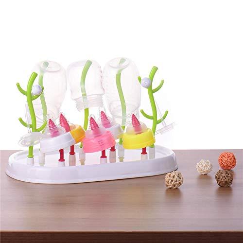 Babyflaschen-Wäscheständer mit staubdichter Abdeckung, Flaschen-Wäscheständer-Baum, Nippel-Trockengestell, Tassenregal-Reinigungstrockner-Halter Bunter Baum