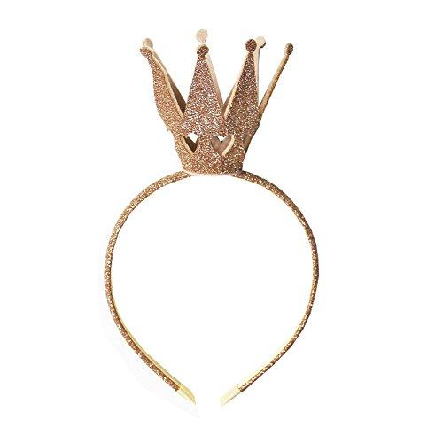 Ever Fairy® Mädchen Shiny Crown Haarband Prinzessin Mädchen Krone Stirnband Hochzeit (Gold)