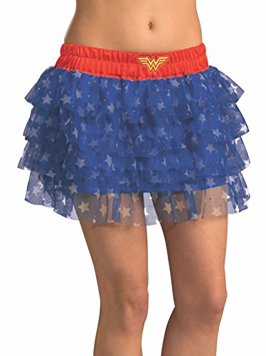 Rubie 's Offizielle Wonder Woman Damen Fancy Kleid Tutu Rock Comic Book Day Superheld (Woman Wonder Da Kostüm)