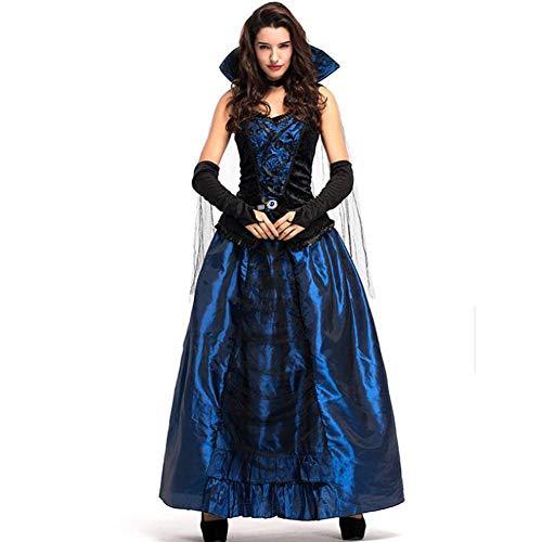 Mörder Vampir Kostüm - ASDF Halloween Kostüm Kostüm Blue Demon Palace Kleid Queen Vampire Kostüm Kleid