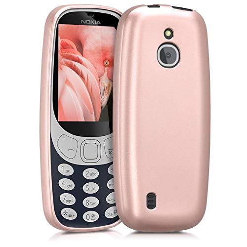 kwmobile Nokia 3310 3G 2017 / 4G 2018 Hülle - Handyhülle für Nokia 3310 3G 2017 / 4G 2018 - Handy Case in Metallic Rosegold