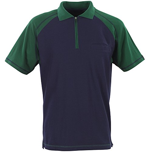 Mascot bianco 50302–Maglietta Polo in 2colori Navy Blue/Green