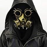 Lxxzz Halloween Orrore Maschera Antigas, Steampunk Maschera del Naso, Cosplay Puntelli di Abbigliamento, Festa di Halloween - (2 Colori),Brass