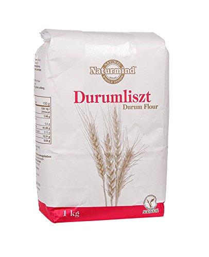 farina di grano duro Naturmind Durum wheat flour, Hartweizenmehl 1000g für Nudeln, Pizza, Waffeln, Vegan Produkte