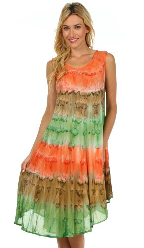 Sakkas Wüstensonne Kaftan Kleid oder Vertuschung für Damen Koralle / Braun