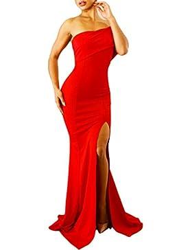 Toocool - Vestito donna abito lungo monospalla monomanica sirena spacco  elegante DL-2229 7a5411f553e
