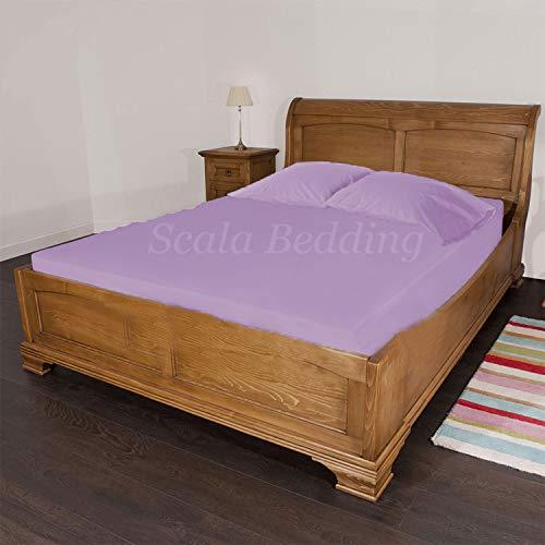 Scala Bedding Bettlaken mit Kissenbezug, Fadenzahl 600, 100% ägyptische Baumwolle, ägyptische Baumwolle, Lavendel, Emperor -