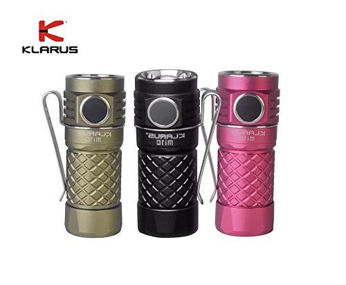 Klarus Mi1C CREE XP-L HI V3 Lampe torche LED 600 lumens avec batterie Li-ion 16340 Noir
