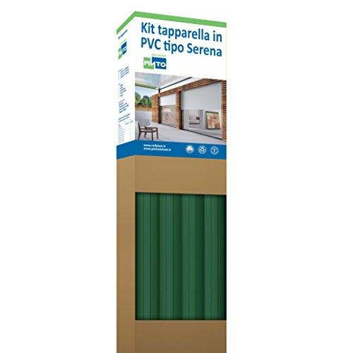 Rollplast PVCKTSEC1700083016001 Tapparella in PVC, Tipo Serena, Peso Circa 4.5 Kg/Metro Quadro, Verde Bottiglia