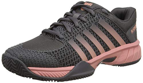 K-Swiss Performance Express Light HB, Zapatillas de Tenis para Mujer, Negro (Plum Kitten/Coral Almond 093-M), 40 EU