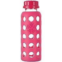Lifefactory 210012- Borraccia in Vetro, 250 ml, Colore Rosso (Raspberry)