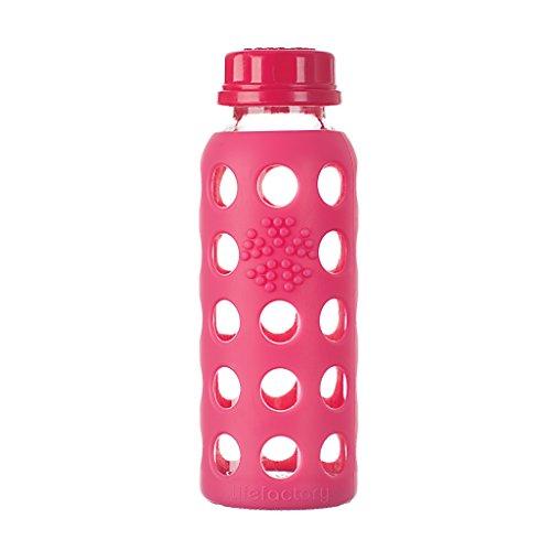 Lifefactory Botella con soporte de tapa, cristal, 9oz-p